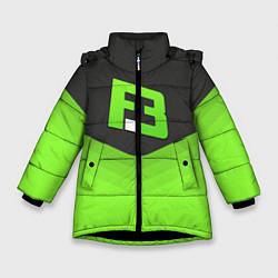Куртка зимняя для девочки FlipSid3 Uniform цвета 3D-черный — фото 1