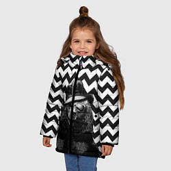 Куртка зимняя для девочки Mr. Bear цвета 3D-черный — фото 2