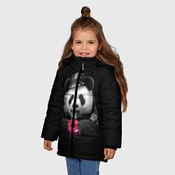 Куртка зимняя для девочки Donut Panda цвета 3D-черный — фото 2