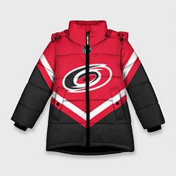 Куртка зимняя для девочки NHL: Carolina Hurricanes цвета 3D-черный — фото 1