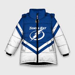 Куртка зимняя для девочки NHL: Tampa Bay Lightning цвета 3D-черный — фото 1