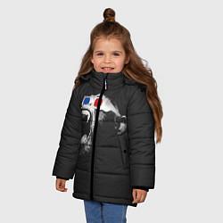 Детская зимняя куртка для девочки с принтом 3D Monkey, цвет: 3D-черный, артикул: 10112477306065 — фото 2
