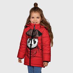Куртка зимняя для девочки Панда пират цвета 3D-черный — фото 2