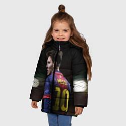 Детская зимняя куртка для девочки с принтом Месси 10, цвет: 3D-черный, артикул: 10112712506065 — фото 2
