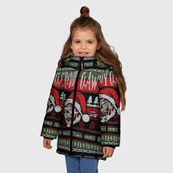 Куртка зимняя для девочки Freddy Christmas цвета 3D-черный — фото 2