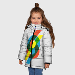 Куртка зимняя для девочки 69 цвета 3D-черный — фото 2
