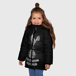 Куртка зимняя для девочки Tottenham Hotspur цвета 3D-черный — фото 2