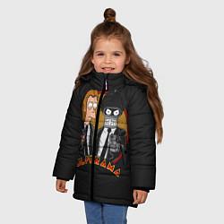 Куртка зимняя для девочки Pulporama цвета 3D-черный — фото 2
