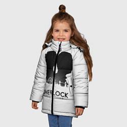 Куртка зимняя для девочки Sherlock Edition цвета 3D-черный — фото 2