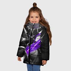 Куртка зимняя для девочки Kassadin цвета 3D-черный — фото 2