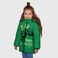 Куртка зимняя для девочки Ireland, Irish dance цвета 3D-черный — фото 2