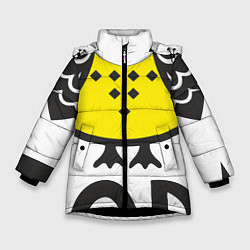 Куртка зимняя для девочки Сова: пора в отпуск! цвета 3D-черный — фото 1