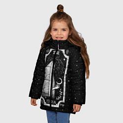 Куртка зимняя для девочки Ночная магия цвета 3D-черный — фото 2