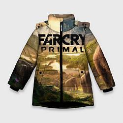 Куртка зимняя для девочки Far Cry: Primal цвета 3D-черный — фото 1