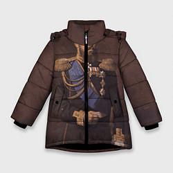 Куртка зимняя для девочки Александр III Миротворец цвета 3D-черный — фото 1