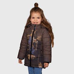 Детская зимняя куртка для девочки с принтом Александр III Миротворец, цвет: 3D-черный, артикул: 10116754406065 — фото 2