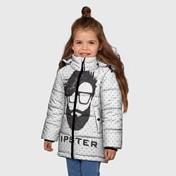Куртка зимняя для девочки Hipster цвета 3D-черный — фото 2