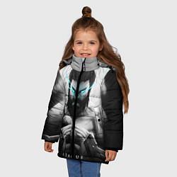 Куртка зимняя для девочки Spirit цвета 3D-черный — фото 2