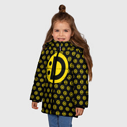 Куртка зимняя для девочки Улыбака цвета 3D-черный — фото 2