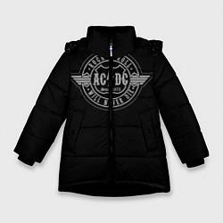 Куртка зимняя для девочки AC/DC: Will never die цвета 3D-черный — фото 1