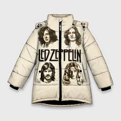 Куртка зимняя для девочки Led Zeppelin Guys цвета 3D-черный — фото 1