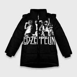 Куртка зимняя для девочки Led Zeppelin: Mono цвета 3D-черный — фото 1