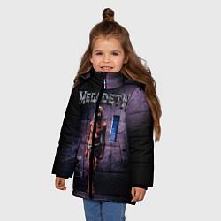 Детская зимняя куртка для девочки с принтом Megadeth: Madness, цвет: 3D-черный, артикул: 10118377406065 — фото 2