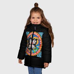 Куртка зимняя для девочки KISS: Over цвета 3D-черный — фото 2