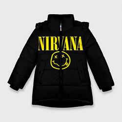 Куртка зимняя для девочки Nirvana Rock цвета 3D-черный — фото 1