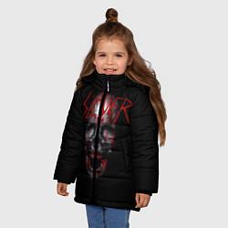 Куртка зимняя для девочки Slayer: Wild Skull цвета 3D-черный — фото 2