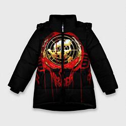 Детская зимняя куртка для девочки с принтом Megadeth: Blooded Aim, цвет: 3D-черный, артикул: 10120102706065 — фото 1