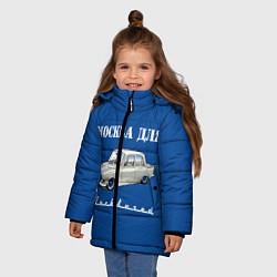 Детская зимняя куртка для девочки с принтом Москва для москвичей, цвет: 3D-черный, артикул: 10121019806065 — фото 2