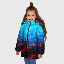 Куртка зимняя для девочки Still waiting neon цвета 3D-черный — фото 2
