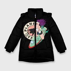Куртка зимняя для девочки Leela Express цвета 3D-черный — фото 1