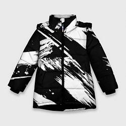 Куртка зимняя для девочки Чёрно-белый цвета 3D-черный — фото 1