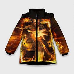 Куртка зимняя для девочки Witcher gwent 3 цвета 3D-черный — фото 1
