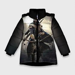 Куртка зимняя для девочки TES 7 цвета 3D-черный — фото 1