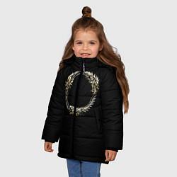 Куртка зимняя для девочки TES 8 цвета 3D-черный — фото 2
