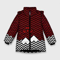 Куртка зимняя для девочки Твин Пикс: Минимализм цвета 3D-черный — фото 1