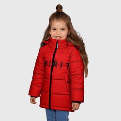 Куртка зимняя для девочки DM: Red Spirit цвета 3D-черный — фото 2