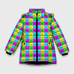 Куртка зимняя для девочки Тестовый яркий цвета 3D-черный — фото 1
