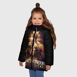 Куртка зимняя для девочки Mayweather vs McGregor цвета 3D-черный — фото 2