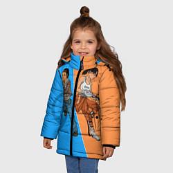 Куртка зимняя для девочки Half-Portal цвета 3D-черный — фото 2