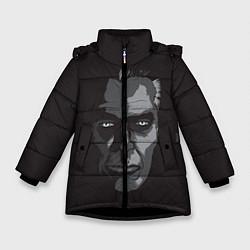 Куртка зимняя для девочки G-Man Face цвета 3D-черный — фото 1