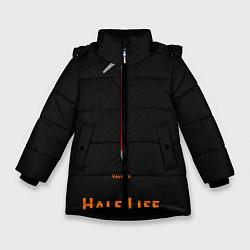 Куртка зимняя для девочки Half-Life: Valve's цвета 3D-черный — фото 1