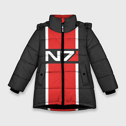 Куртка зимняя для девочки Mass Effect: N7 цвета 3D-черный — фото 1
