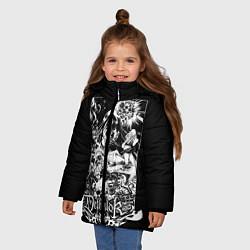 Куртка зимняя для девочки Dethklok: Metalocalypse цвета 3D-черный — фото 2