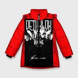 Куртка зимняя для девочки Dethklok: Knitting factory цвета 3D-черный — фото 1