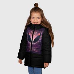 Детская зимняя куртка для девочки с принтом Dethklok: Angel, цвет: 3D-черный, артикул: 10134390106065 — фото 2