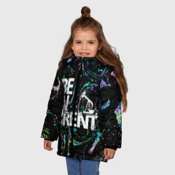 Куртка зимняя для девочки Be in brent цвета 3D-черный — фото 2